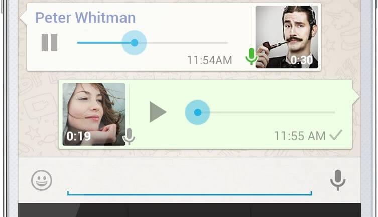 WhatsApp Messenger notas de voz