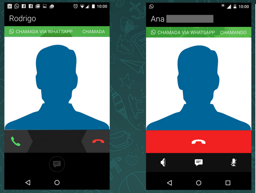 Fazer chamadas no WhatsApp Messenger