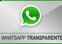 Coloque o Whatsapp transparente