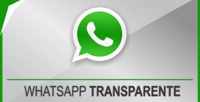 Coloque o Whatsapp transparente