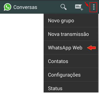 how to find whatsapp web on android