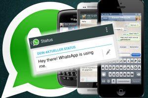 Como mudar frase de status para Whatsapp